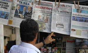 Newspapers report on the rescue deal in Athens.