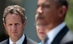 us debt crisis, Barack Obama, Timothy Geithner