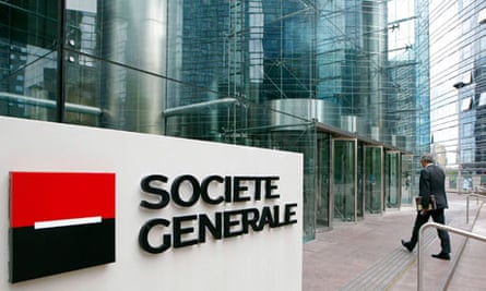 The headquarters of French bank Societe Generale