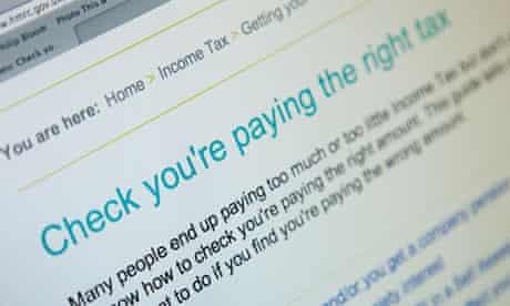Revenue and Customs website