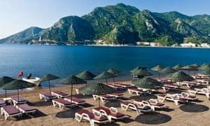 Icmeler beach in Turkey