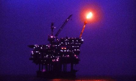 North Sea gas platform