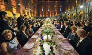 A general view of the Nobel banquet in Stockholm