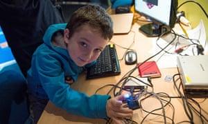 A 'Raspberry Jam' session at CERN