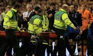 Fabrice Muamba carried off pitch after collapse