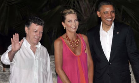 Barack Obama arrives for a dinner part of the 6th Americas Summit