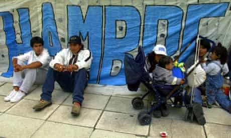 Unemployed people in Argentina during 2001 economic