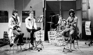 The Beatles at Abbey Road studios.