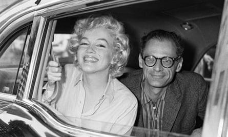 Marilyn Monroe and Arthur Miller in Car