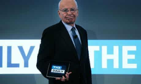 Rupert Murdoch at launch of the Daily