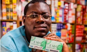Bright Simons with the mPedigree anti-counterfeit drug system