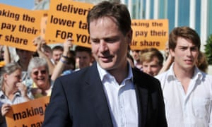 Deputy prime minister Nick Clegg at the party conference