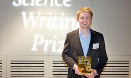 Adam Kurcharski, winner of the 2012 Wellcome Trust Science Writing Prize