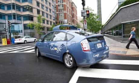 The Google self-driving car turns a corner