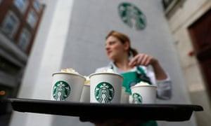 Starbucks employee offers drinks