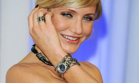 Cameron Diaz wearing a Swiss-made Tag Heuer
