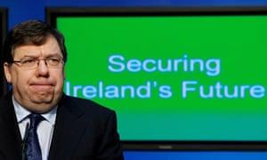 Irish taoiseach Brian Cowen austerity plan