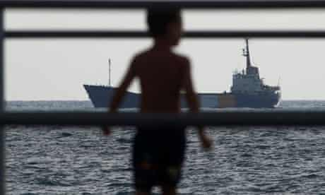 An aid ship approaches Gaza