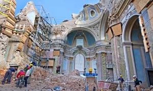 l'aquila after the 2009 earthquake.