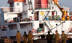 Confiscated goods and ships from Free Gaza Movement flotilla in Ashdod port