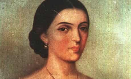 Early 19th century painting of Manuela Saenz, lover of Simon Bolivar, Caracas, Venezuela