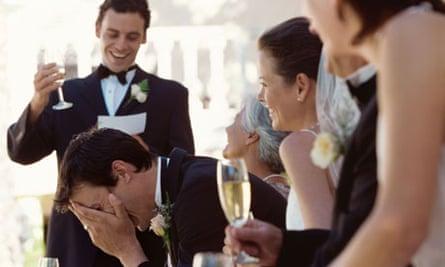 Best man making a speech at a wedding reception