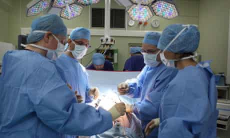 National Health Service doctors operating