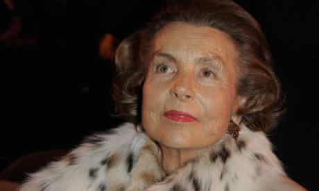 Liliane Bettencourt Frances ricehst woman and heiress to L'Oreal fortune