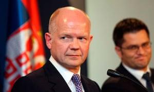 British Foreign Secretary William Hague visits Serbia