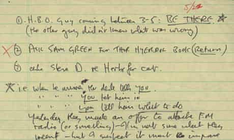 A to-do list written by John Lennon which is up for auction