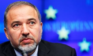 Avigdor Lieberman, Israel's foreign minister, at the EU Council in Brussels