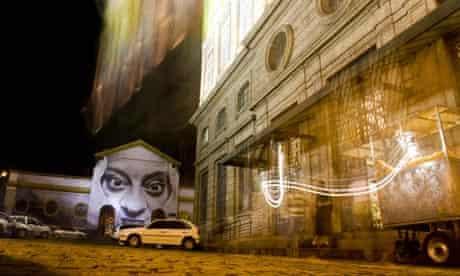 Part of the Women project by JR in Rio de Janeiro