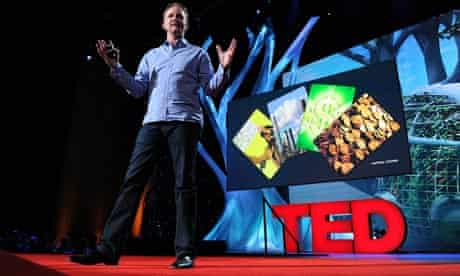 Morgan Spurlock speaks during the Worlds Imagined at session TED2011