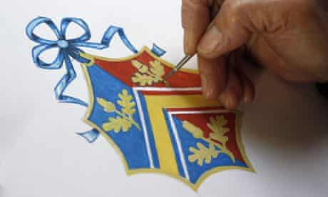 NEw Coat of Arms for Kate Middleton at the College of Arms in London