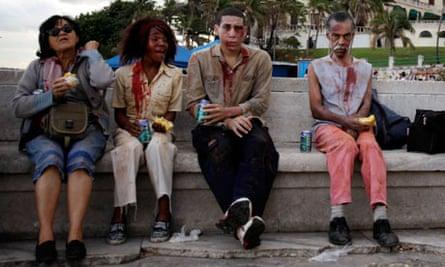Extras from Cuban film Juan de los Muertos or  Juan of the Dead