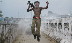 Liberian militia in Monrovia, 2003 by Chris Hondros