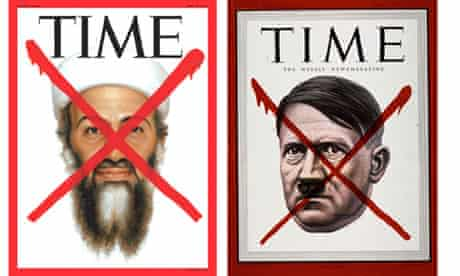 Cover of Time magazine from today showing Osama Bin Laden and from May 1945 showing Adolf Hitler