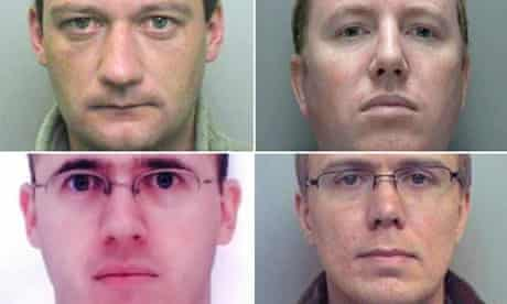 Lincolnshire paedophile ring members: Ian Frost, Paul Rowlands, Paul Frost and Ian Sambridge