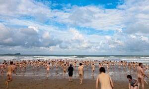 world skinny dip record broken at rhossili beach