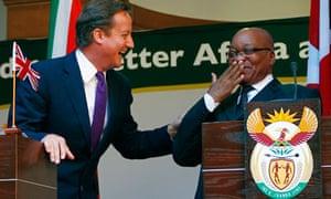David Cameron and Jacob Zuma