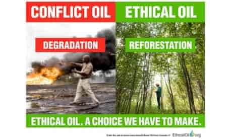 An advert from Ethicaloil.org