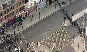 Police confront youths in Hackney, London