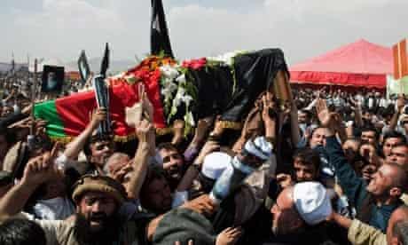 The funeral of Burhanuddin Rabbani in Kabul
