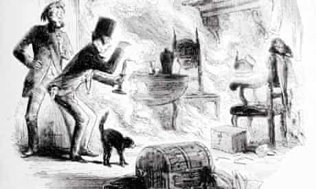 Krook spontaneously combusts in Bleak House by Charles Dickens