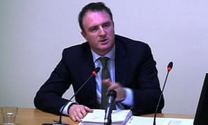 James Harding, editor of The Times, gives evidence to the Leveson Inquiry
