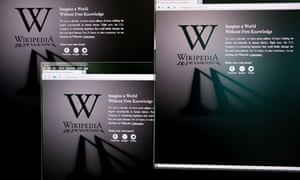 wikipedia blacked out page in protest against proposed US laws to stop online piracy
