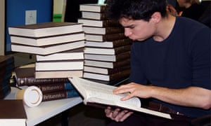 Guardipedia editor Patrick Kingsley uses Encyclopaedia Britannica