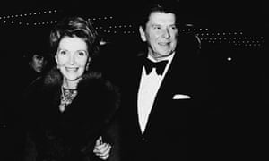 Ronald and Nancy Reagan arrive at a film premiere in 1978