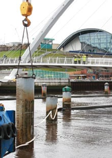 The Harbourmaster's Piles are removed from Tyne in Gateshead