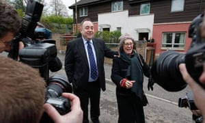 Scottish National Party leader Alex Salmond canvasses in Edinburgh